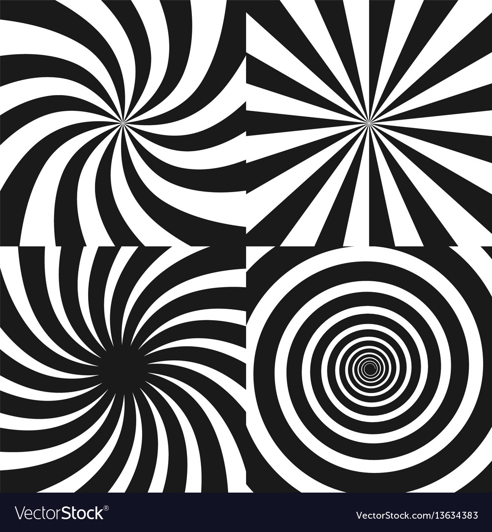 Psychedelic spiral with radial rays twirl vector image