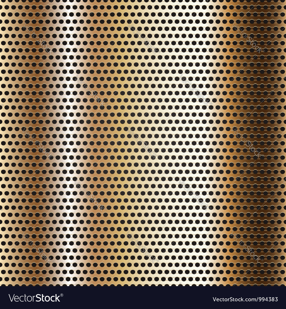 Seamless chrome metal surface background vector image