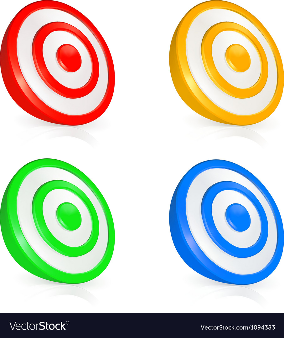 Target buttons vector image