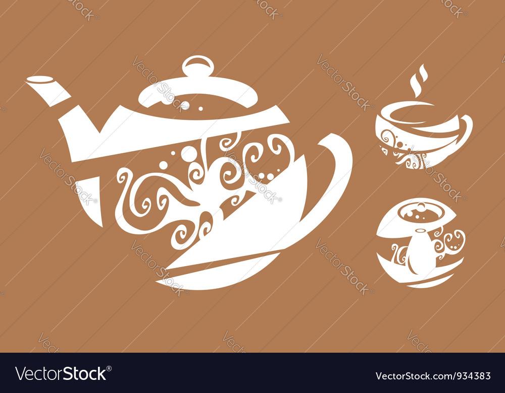 Tea-cloth vector image