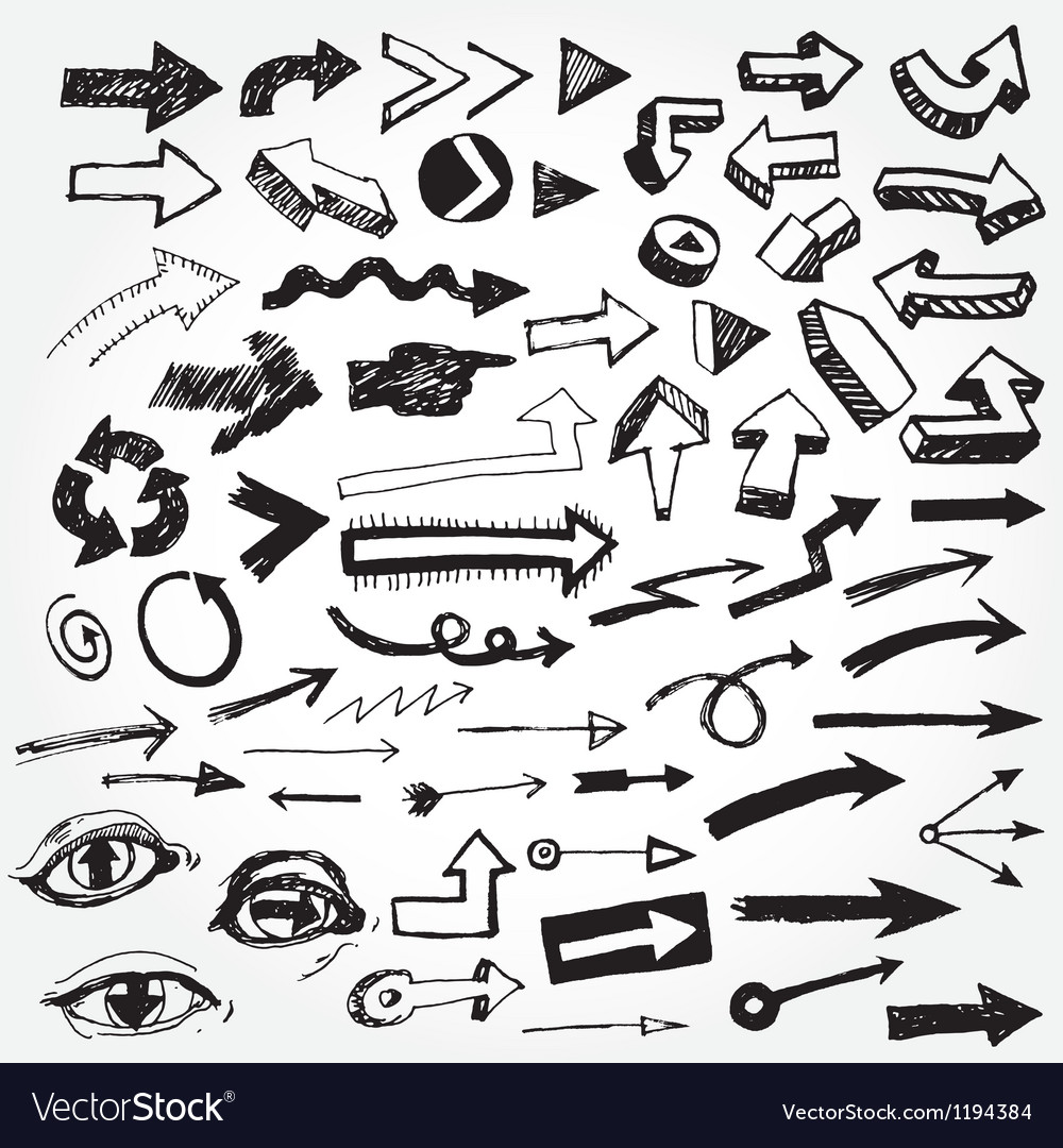 Big set of arrows vector image
