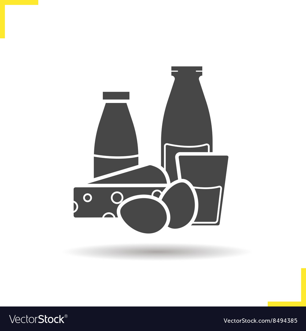 Dairy icon Vector Image on VectorStock