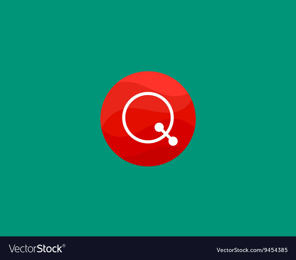 Abstract letter Q logo design template Dot line vector image