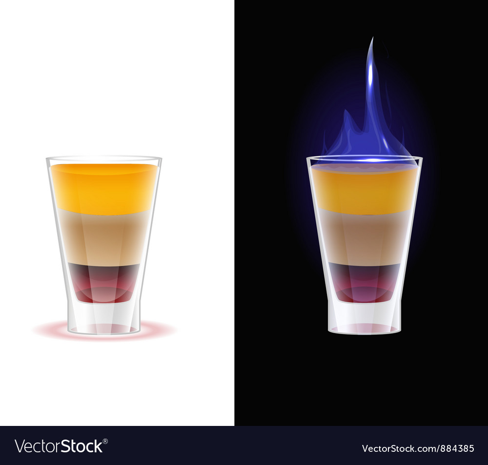 Shot Drink B52 Royalty Free Vector Image