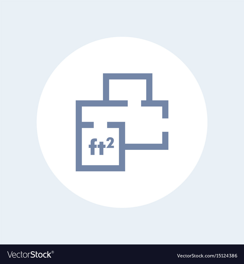 Home plan icon apartment room layout Royalty Free Vector