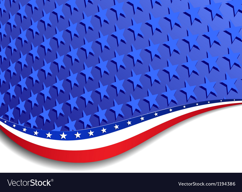 Stars and Stripes Landscape bigger stars vector image