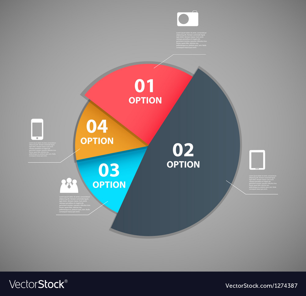 Infographic template design vector image