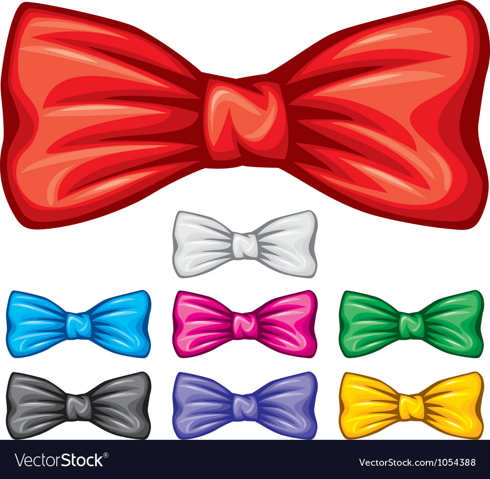 Bow ties collection Vector Image