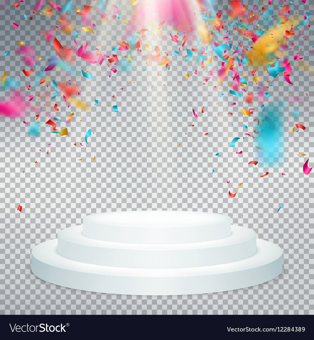 Winner background with confetti EPS 10 vector image