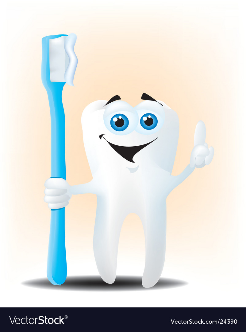Happy tooth vector image
