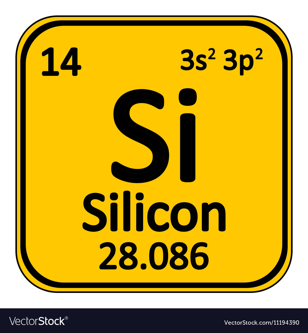 Periodic table element silicon icon royalty free vector periodic table element silicon icon vector image biocorpaavc Image collections