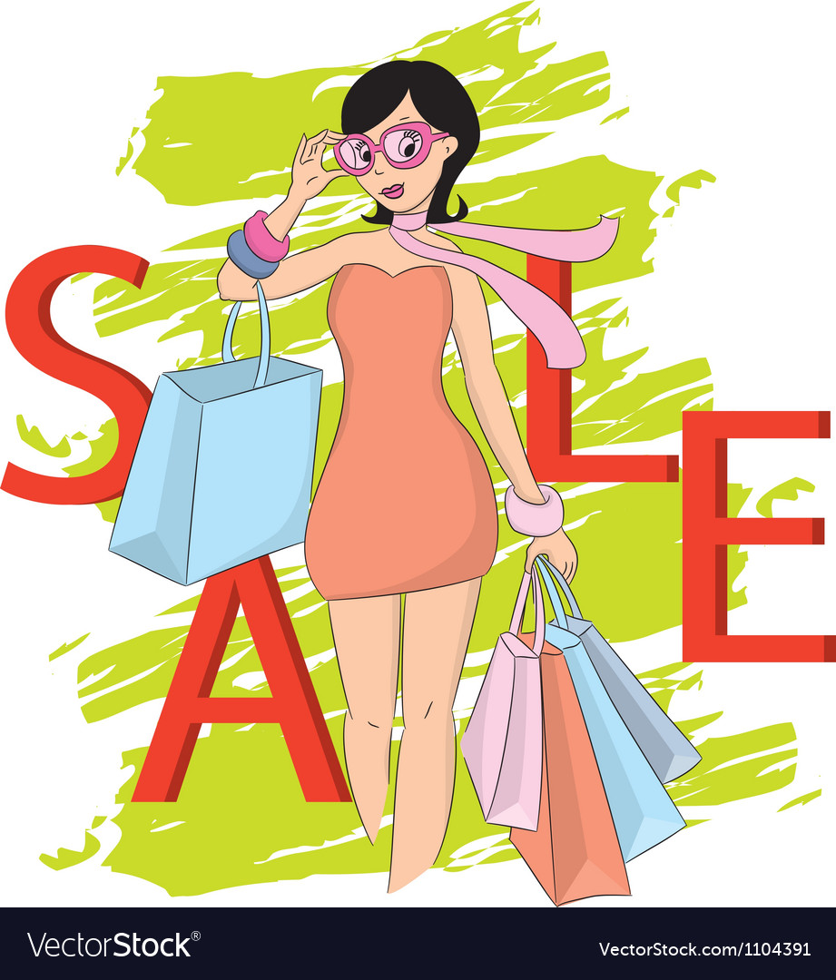 Fashion shopping vector image