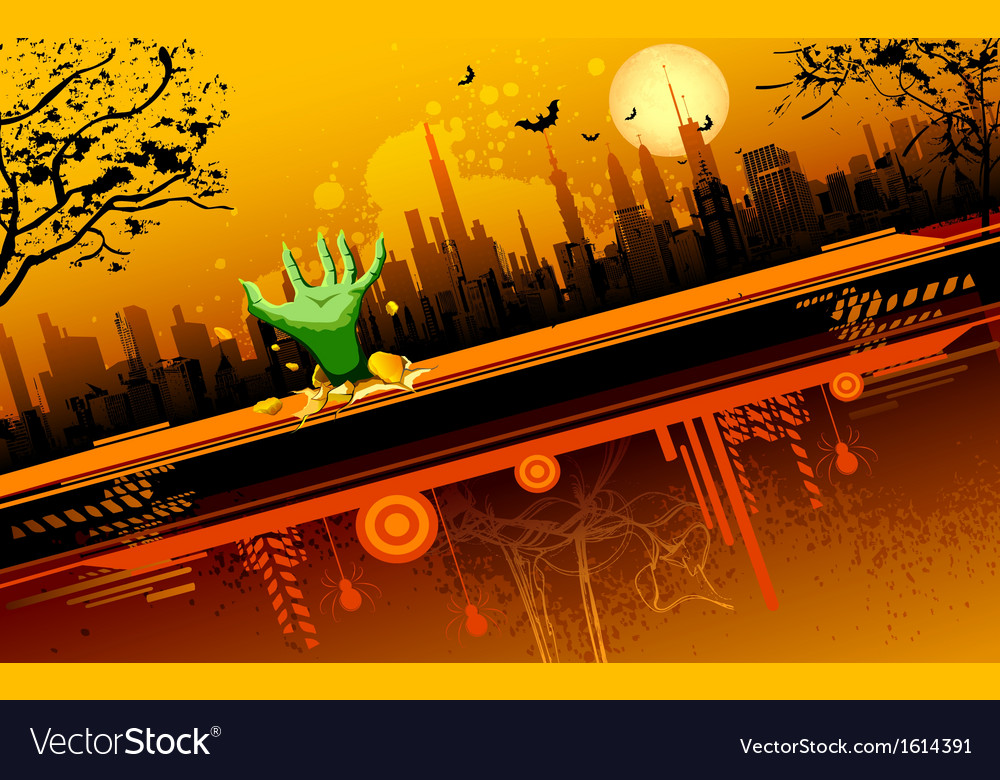 Scary Halloween Night vector image