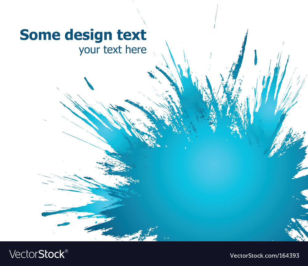 Blue paint splashes background illustration vector image