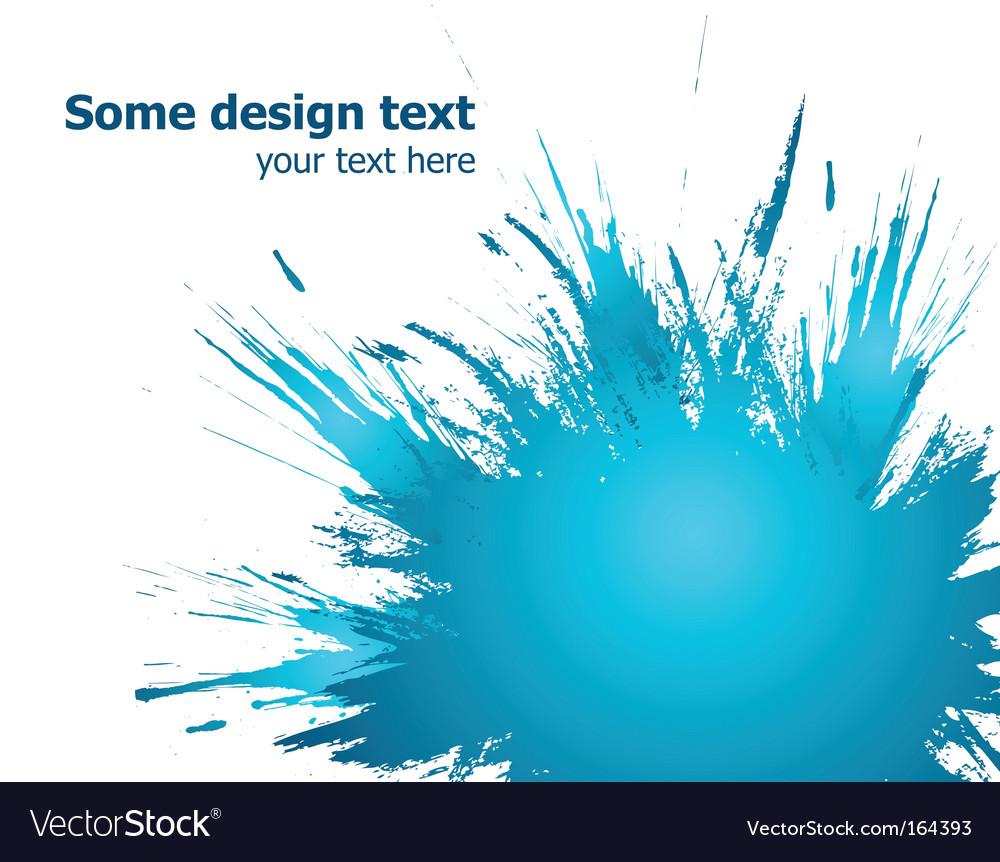 Blue paint splashes background illustration vector image