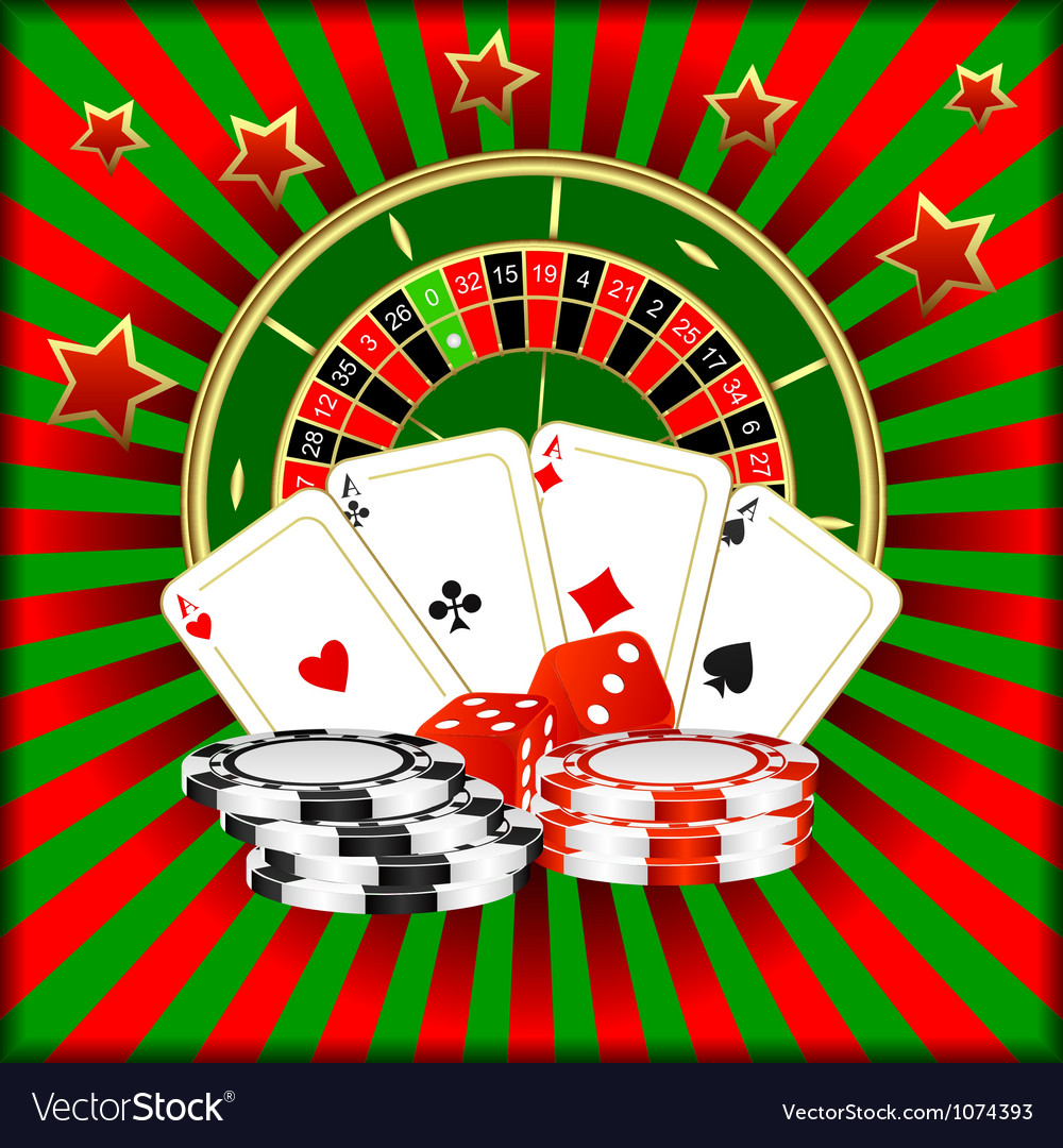 Casino games vector image