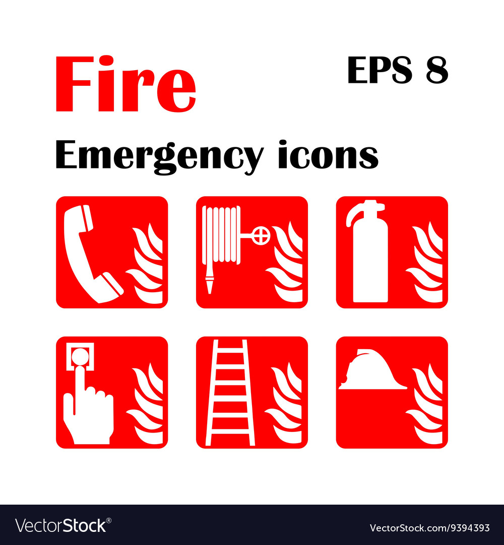 Fire emergency icons fire royalty free vector image fire emergency icons fire vector image biocorpaavc Gallery