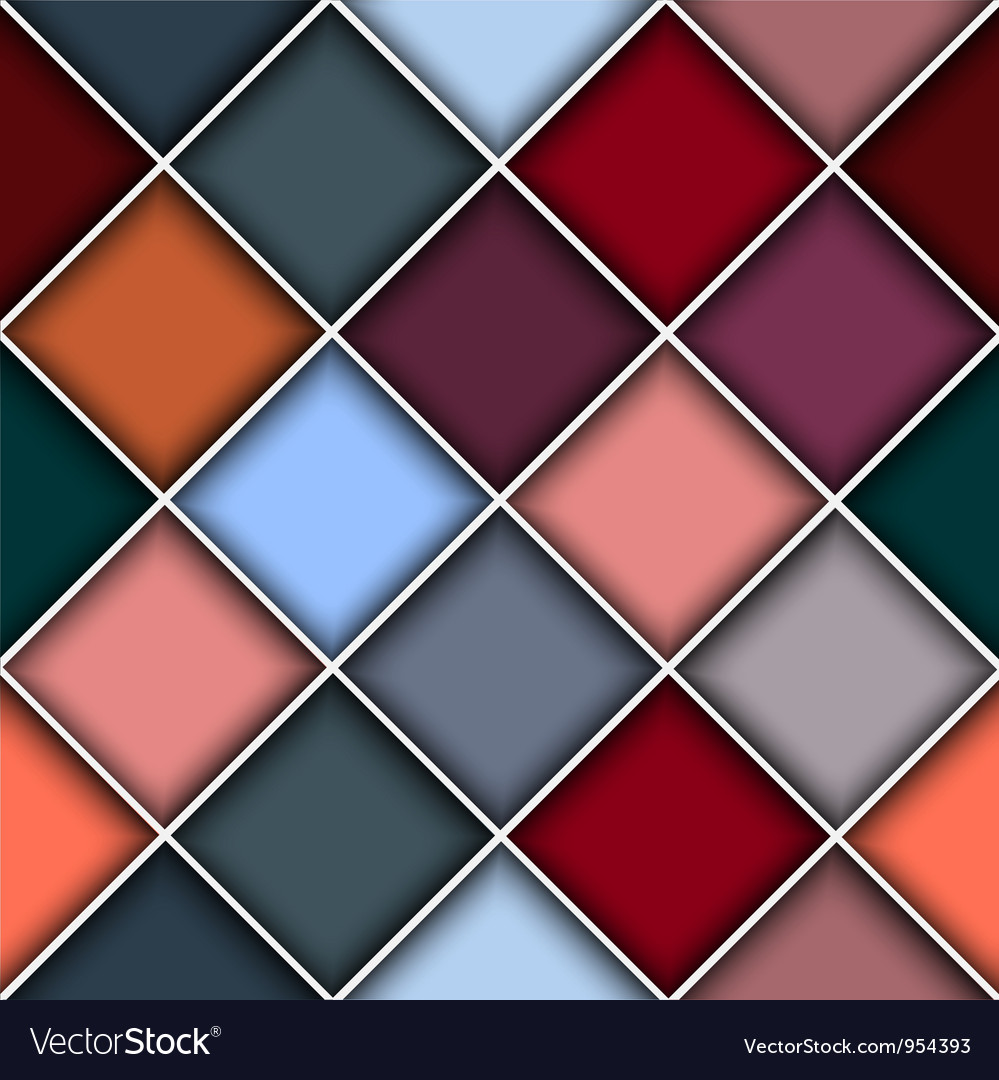 Square structure background vector image