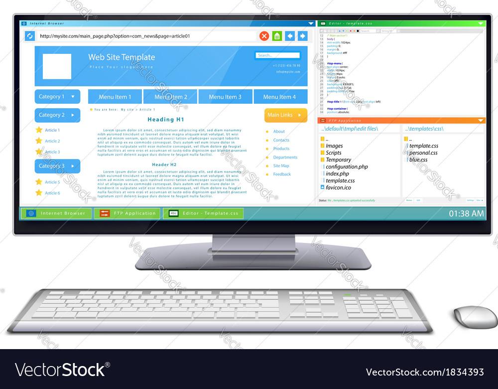 Website development vector image