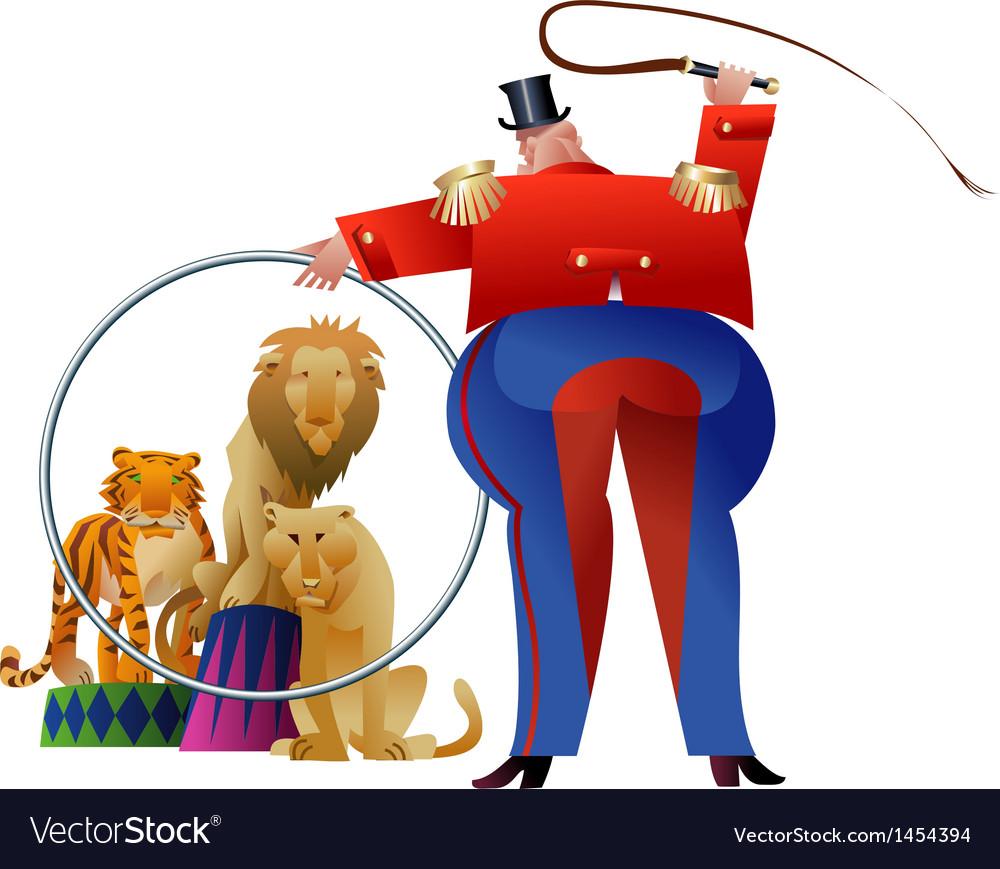 Circus Tamer vector image
