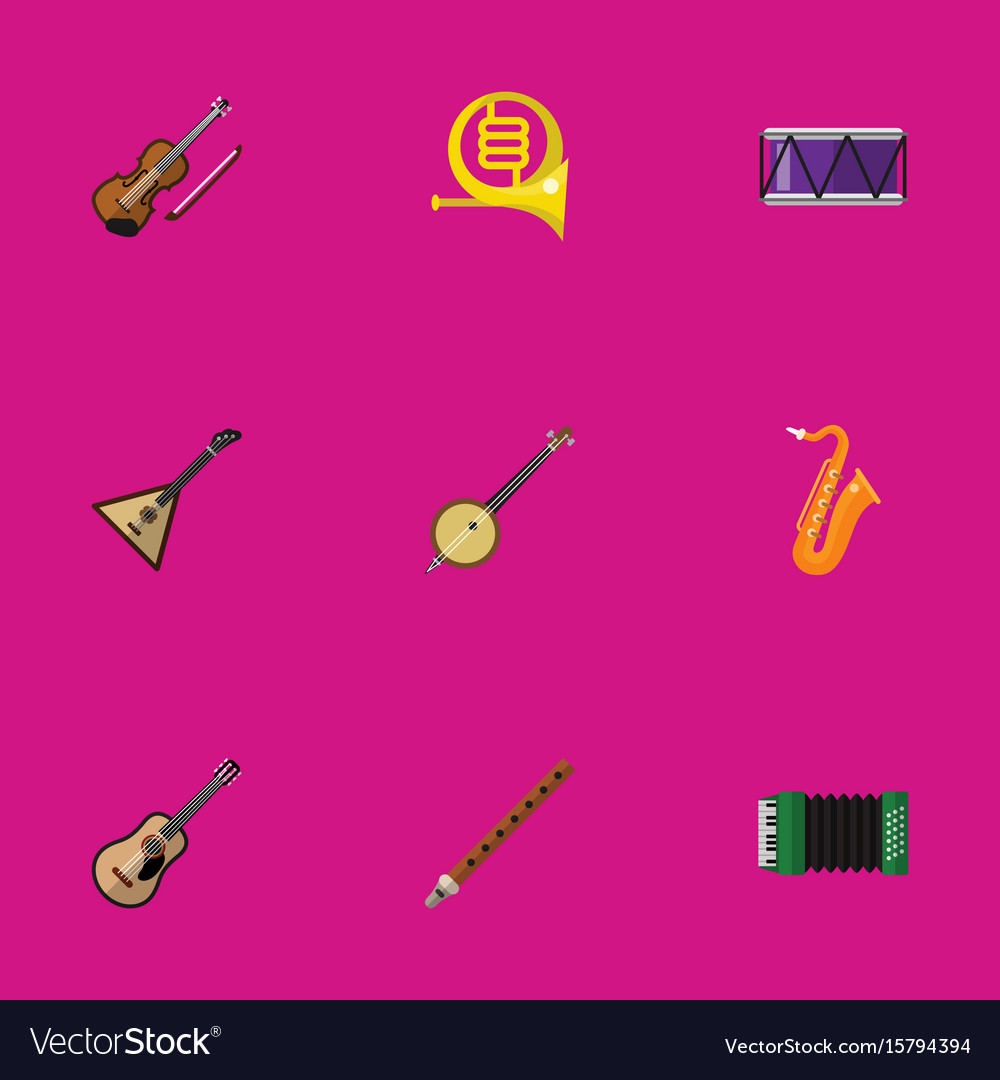 Set of 9 editable melody icons includes symbols vector image