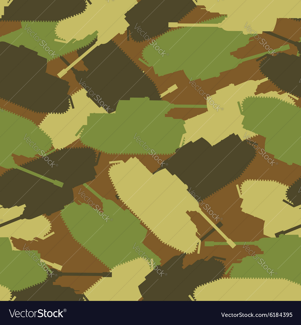 Army tank pattern Protective military background vector image