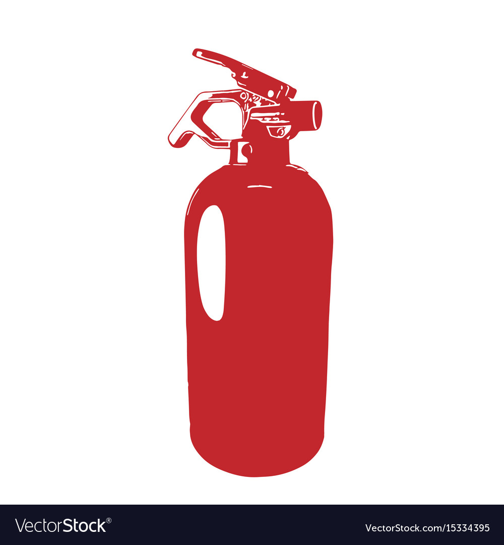 Red fire extinguisher vector image