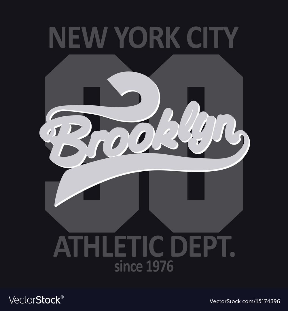 Brooklyn t-shirt graphics vector image