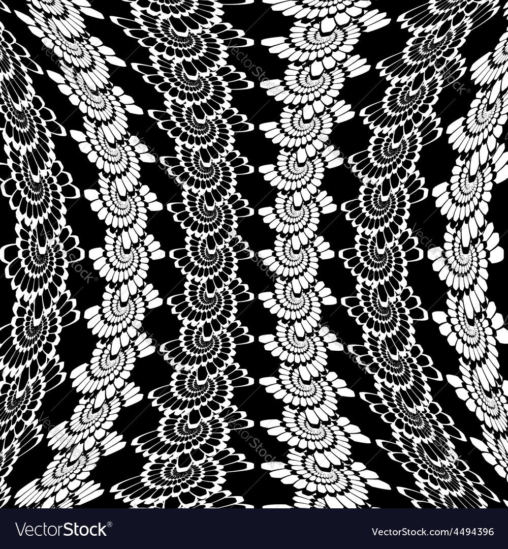 Design warped monochrome spiral background vector image
