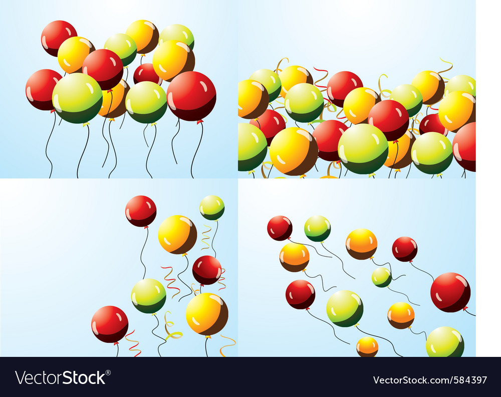 Set of party balloons vector image