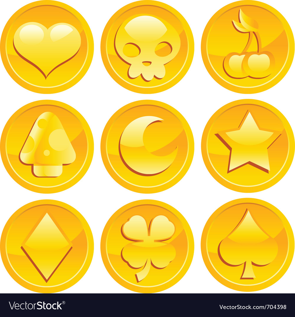 Game gold coins vector image