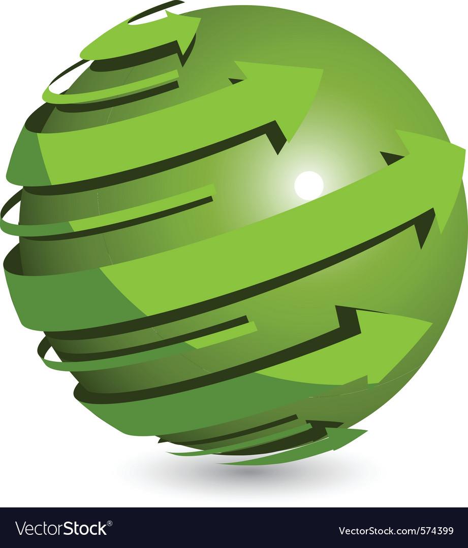 Arrows around ball vector image