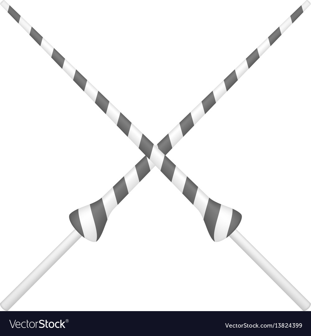 Two crossed lances in black and white design vector image