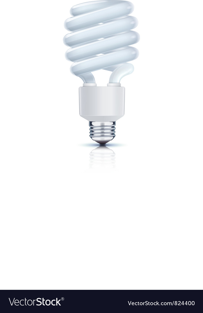 Fluorescent lightbulb Vector Image