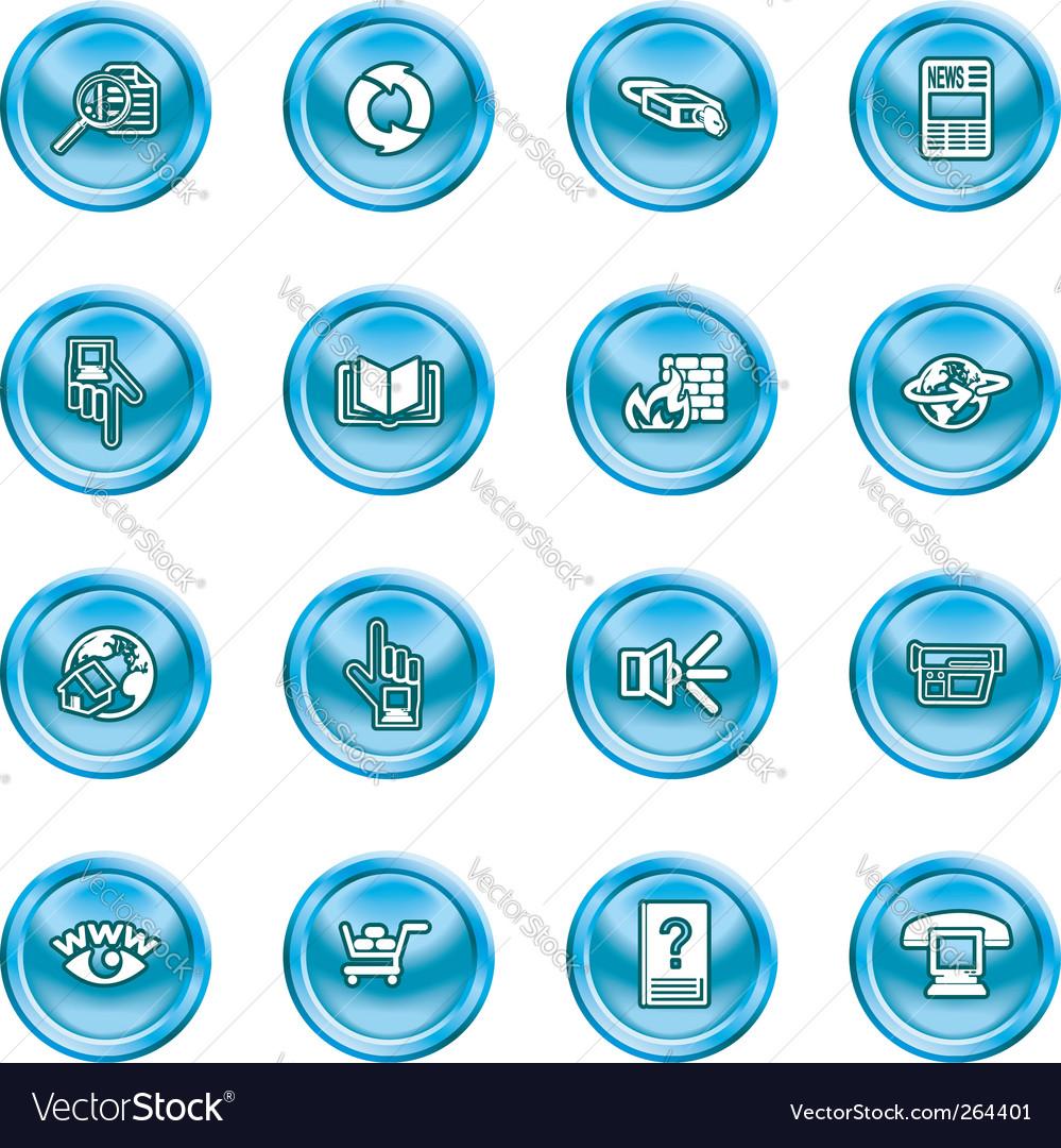 Computing icon set vector image