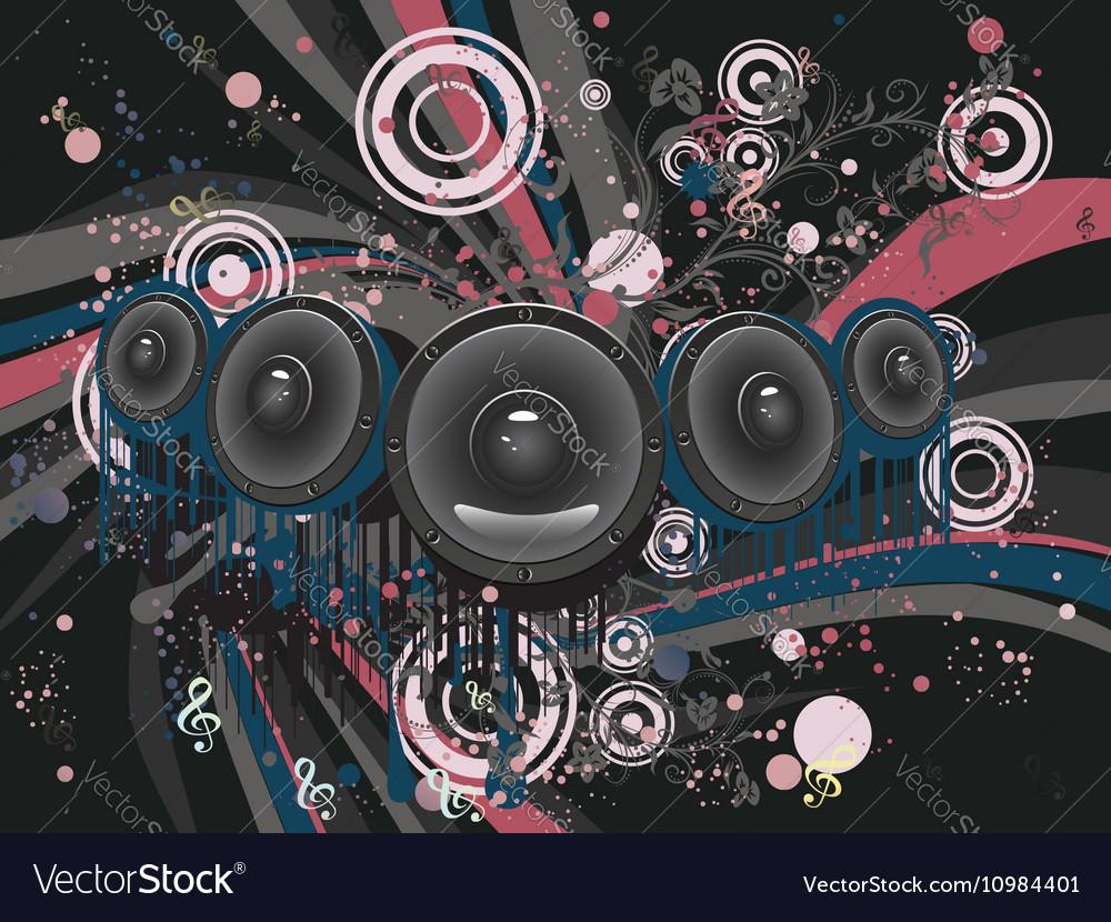 Grunge Loud Speaker2 vector image