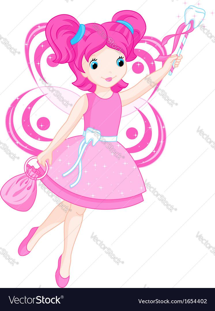 cute tooth fairy royalty free vector image vectorstock