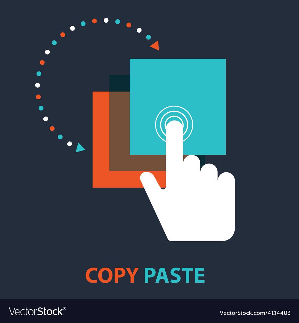Copy paste icon royalty free vector image vectorstock copy paste icon vector image biocorpaavc Gallery