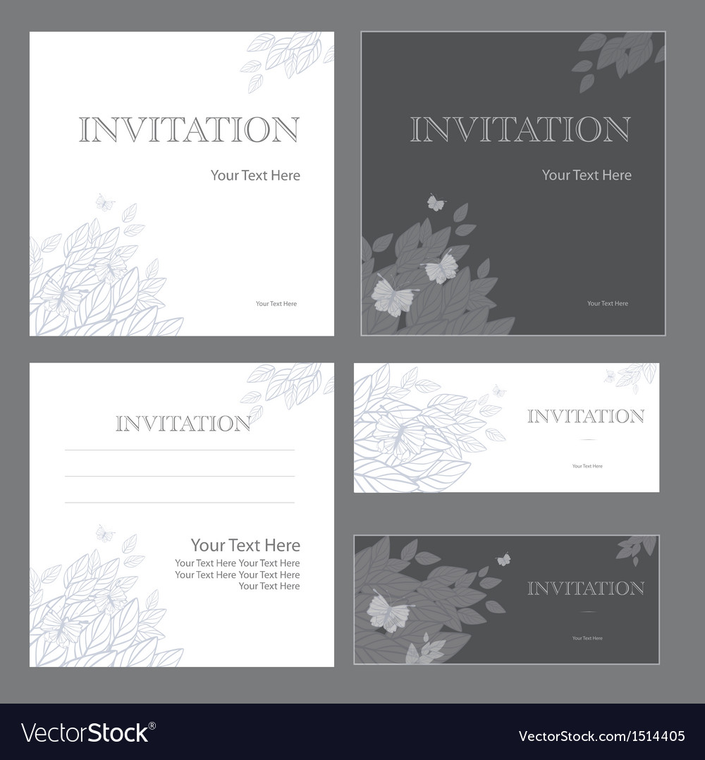 Decorative invitations vector image