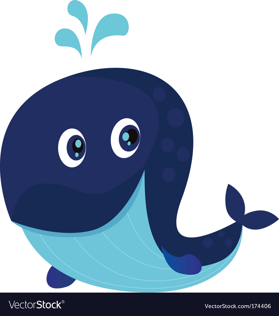 whale cartoon. Big Blue Ocean Cartoon Whale