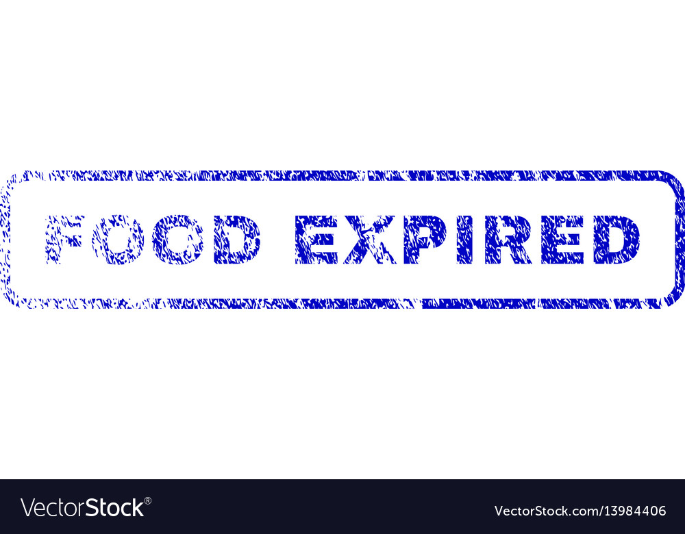 Food expired rubber stamp vector image