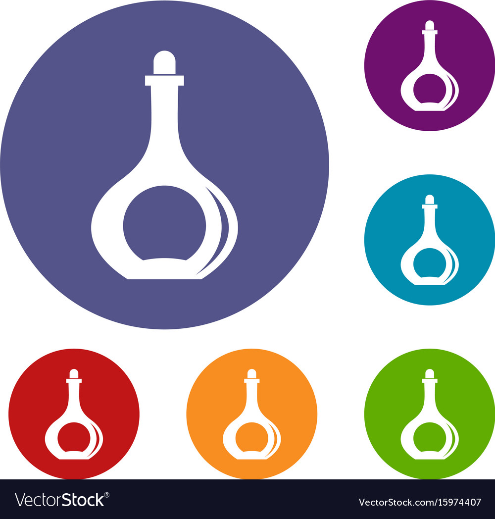 Carafe icons set vector image