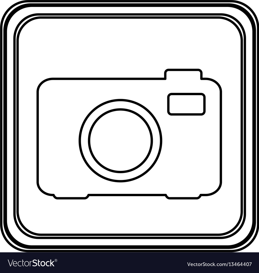 Figure emblem camera icon vector image