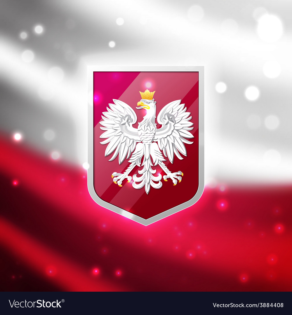 coat of arms of poland royalty free vector image