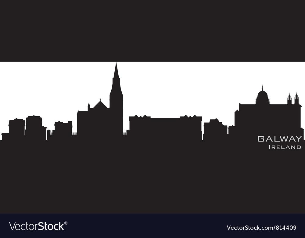 Galway Ireland skyline Detailed silhouette Vector Image