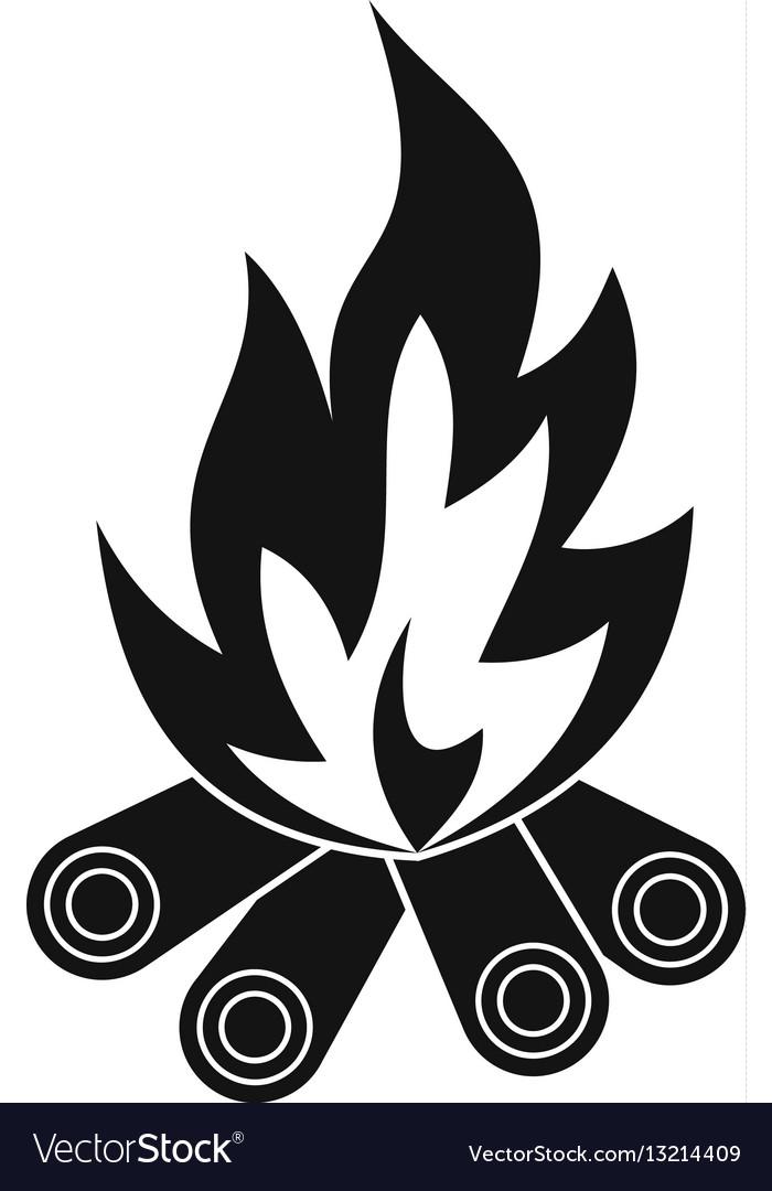 Bonfire icon simple style vector image