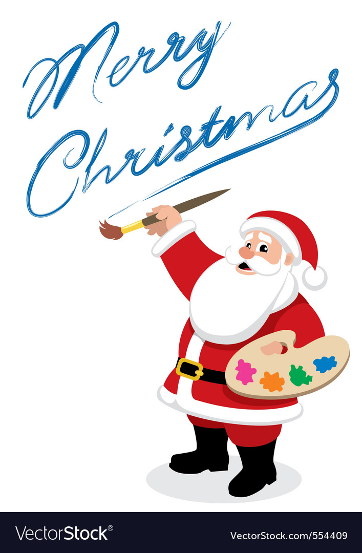 Santa painter vector image