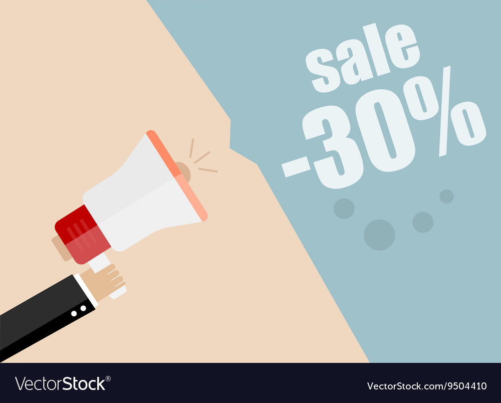 Sale promotion concept hand holding megaphone vector image