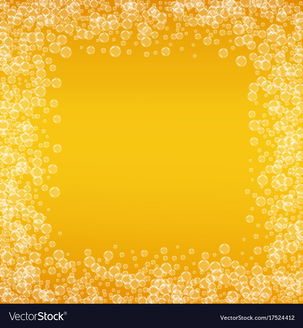 Oktoberfest background with beer vector image