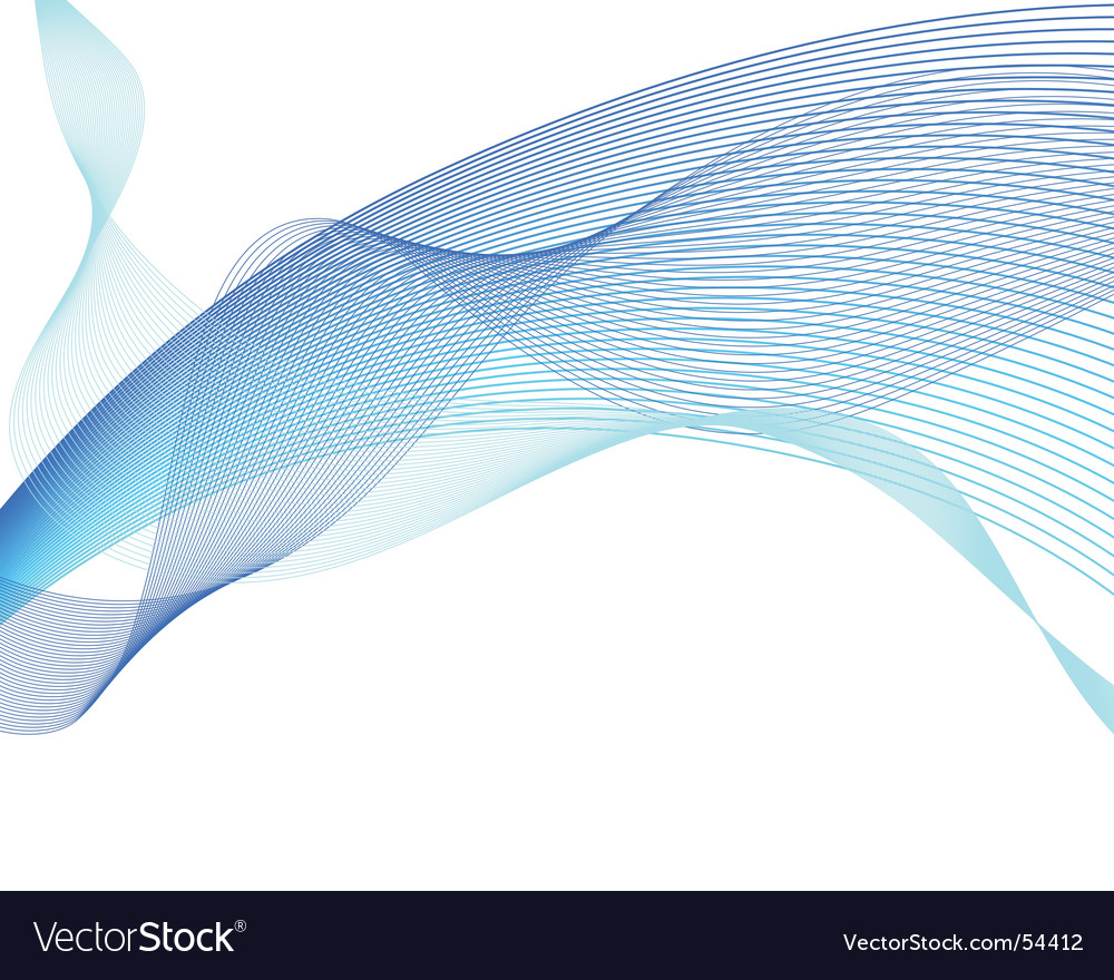 Water waves vector image